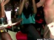 Nightclub cfnm party with stripper