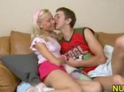 Cute girl beauty rides dick of guy