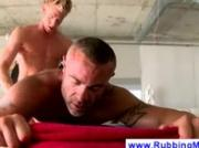 Older gay masseur gets ass pounded
