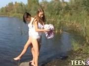 Young babes masturbating by the river
