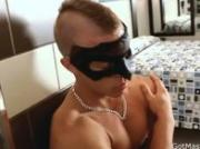 Muscled stud with mohawk jerking cock 1 by GotMasked