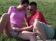 Amateur loves outdoor flirting