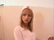 French blonde nurse fucked in threesome