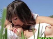 Gorgeous lesbian babes get hot