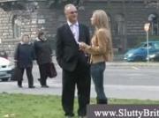 Old man picks up hot blonde teen