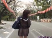Mikan Cute Asian student flashes her way through town 1 by JPflashers