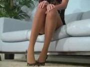 Jenna Haze s pantyhose striptease will get you addicted