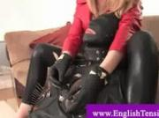 Bonded nt slave castigated by evil mistress with a smoke