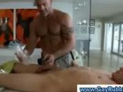 Amateur straight guy gets a handjob of hunk in massage