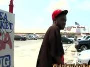 Gay gangster interracial outdoor blowjob