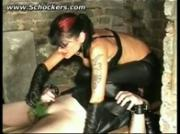 Mistress electro shocks balls uses neetles