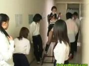 Japanese schoolgirls stripped and groped
