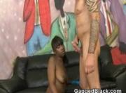 Black Ghetto Slut On Her Knees For A Throat Fucking