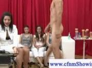 Cfnm girls humiliate naked guys small dick