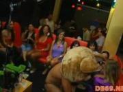 Cowboy strip at hen-party