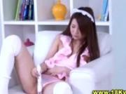 Naughty asian teen gets hot