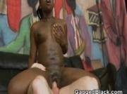 Dirty Black Ghetto Slut Getting Hammered By White Guy
