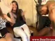 Horny raunchy ladies vs black stripper