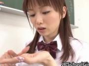 An Nanairo Asian Schoolgirl Having her first blowjob lesson 3 by JPSchoolGi
