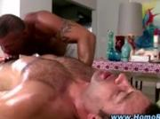 Gay straight guy blowjob massage seduction