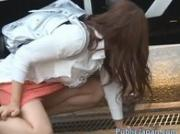 Frustrated Japanese lady has a hairy pussy jav 1 by PublicJapan