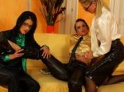 Glamour classy lesbian foreplay