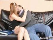 Sexy tgirl Mariana drills the guy