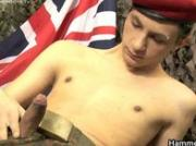 Teen soldier lubing and jerking his amazing jizzster 2 by HammerB