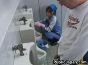 Beautiful maintenance worker is in the mens toilet 5 by PublicJapan