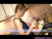 Teen Asian Babe gets Ass and Pussy Dildoing in the kitchen 1 by 18Nippon