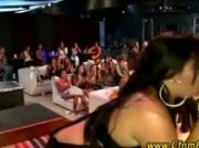 CFNM strippers get sucked by CFNM amateur babes