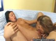 Lesbian whore gets her cunt fucked with big dildo free porn 1by GushingLesb