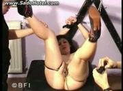 Hot tied slave gets the inside and outside