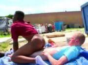 Watch interracial gangsta get a facial