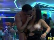 Hard core group sex in night club