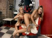 hot lesbians play with toys and fingers