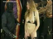 Hot slave with nice gets her pussy spread