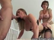 Mature femdom fuck and suck threesome