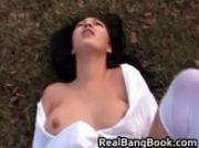 Super hot babe gets outdoor facial 2 by RealBangBook