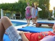 Shocking gangbang with four teens and me