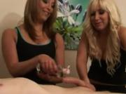 Cfnm babes oil up cock