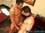Two hunks making out in the office 3 by HardOnJob