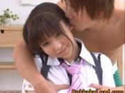 Harumi Asano Asian doll gets facial 1 by BukkakeLoad
