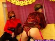 Slutty bukkake lesbians get hot