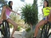 Restless nymphs peeing outdoors