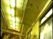 Train Masterbate To Blonde Woman