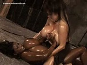 Oiled Up Milena & Ebony Chick
