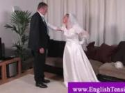 Spanking transvestite bride