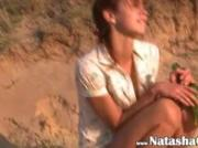 stunning natasha teen naked on the beach