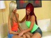 Blonde and Redhead lesbo